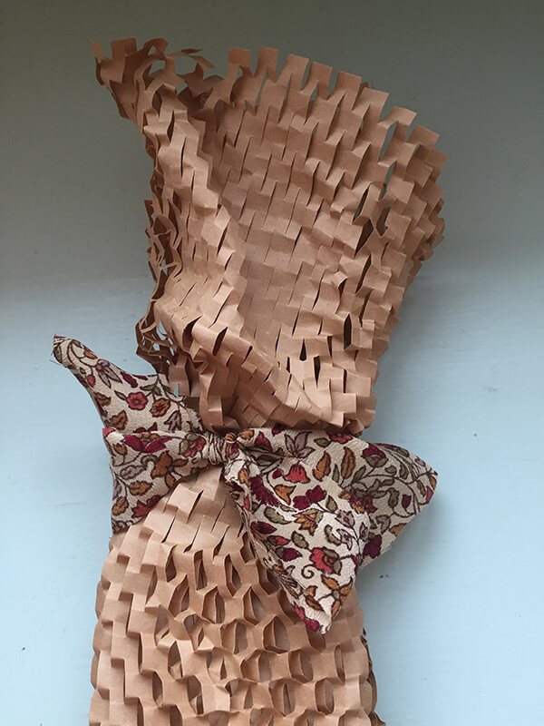 bow on gift wrap